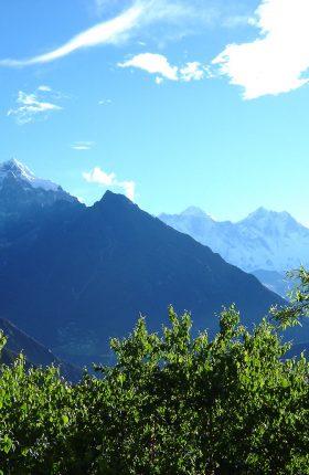 EBC with Kungmala and Island peak